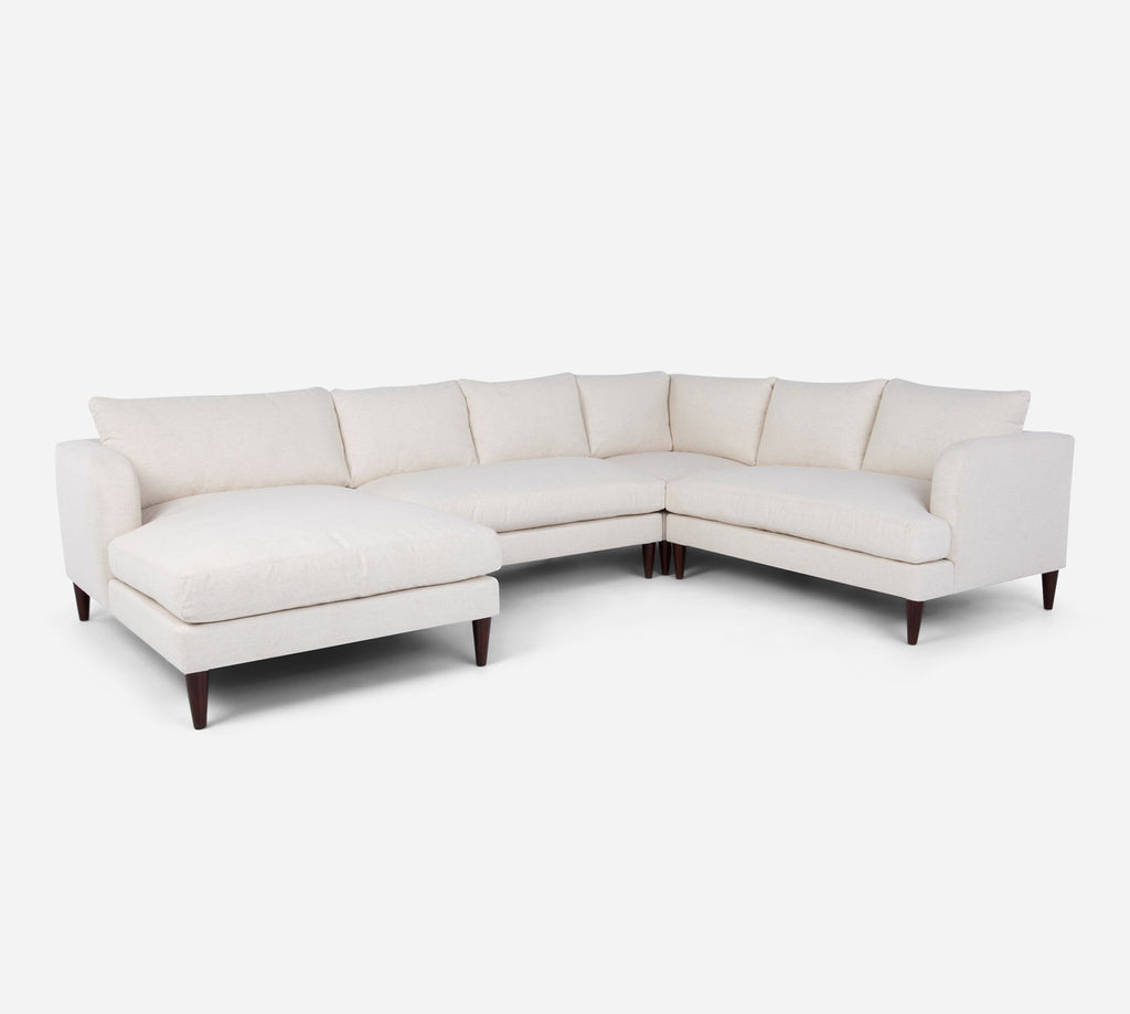 Cybil LAF Chaise Corner Sectional - Heritage - Ivory