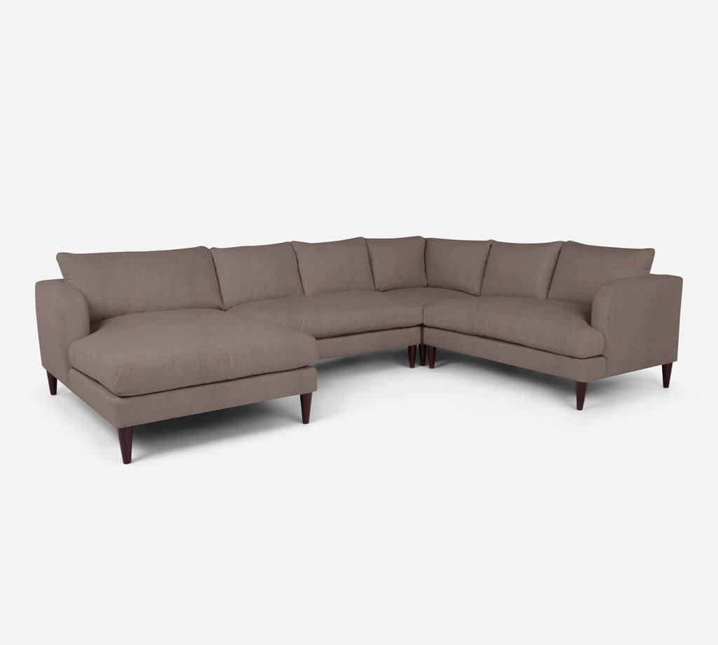 Cybil LAF Chaise Corner Sectional - Heritage - Pebble