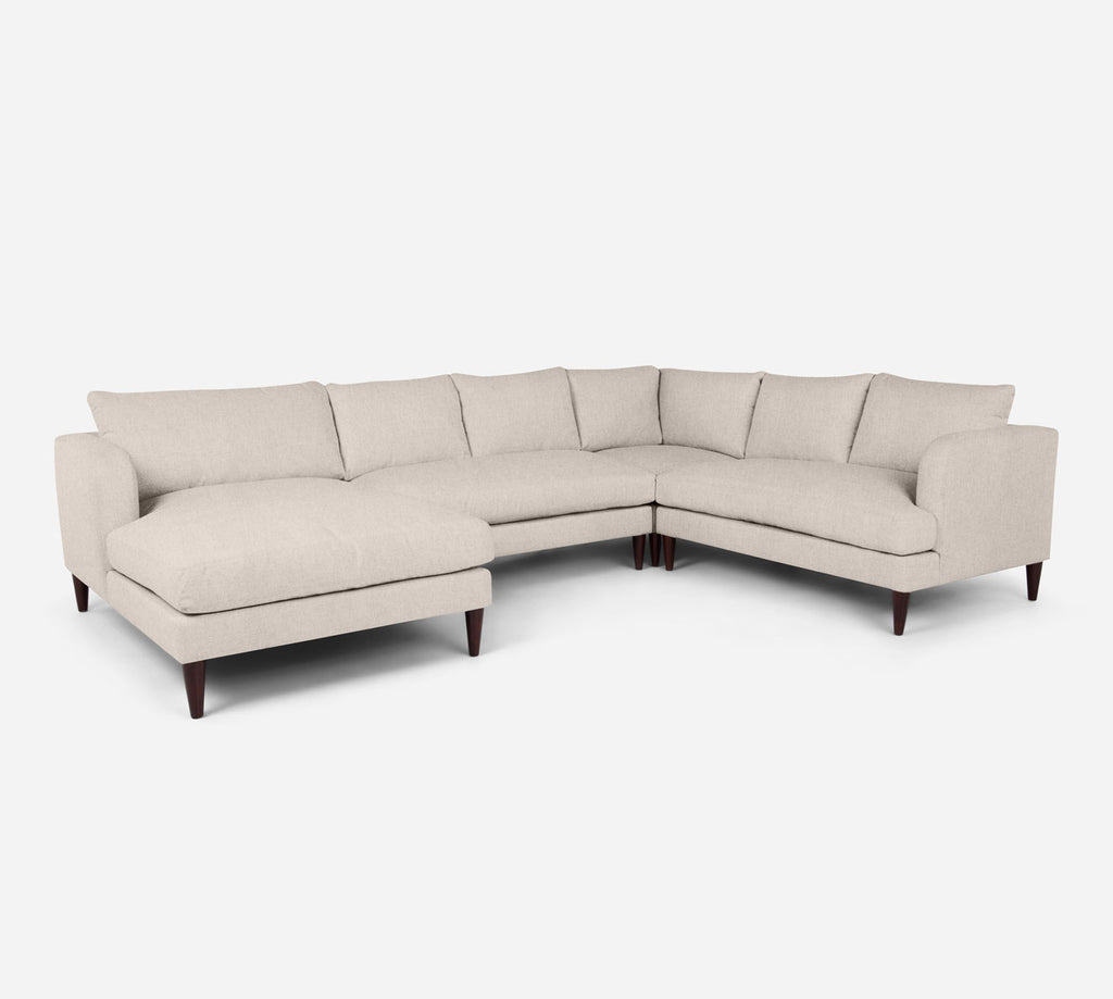 Cybil LAF Chaise Corner Sectional - Kenley - Canvas