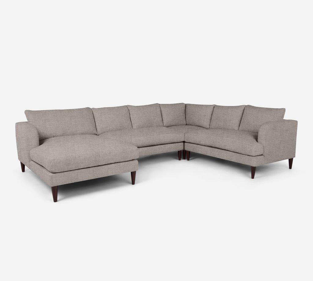 Cybil LAF Chaise Corner Sectional - Key Largo - Almond