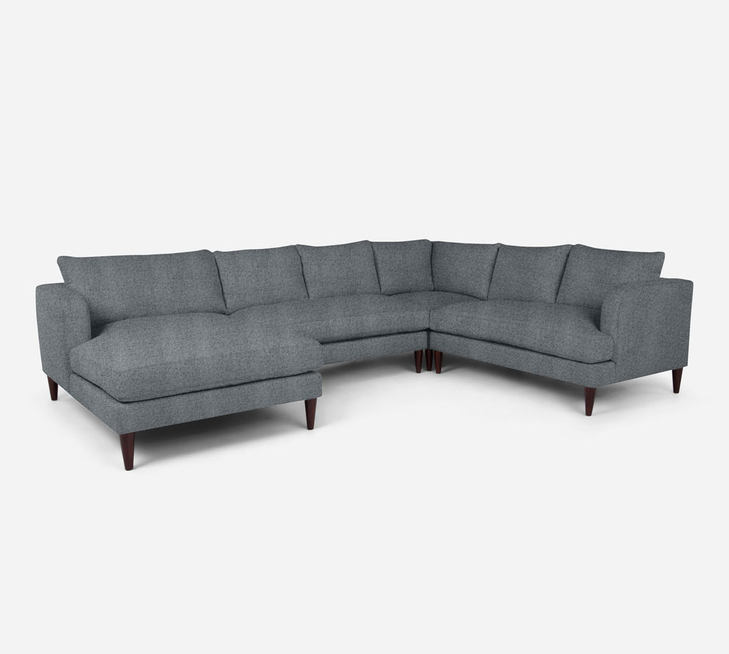 Cybil LAF Chaise Corner Sectional - Theron - Haze
