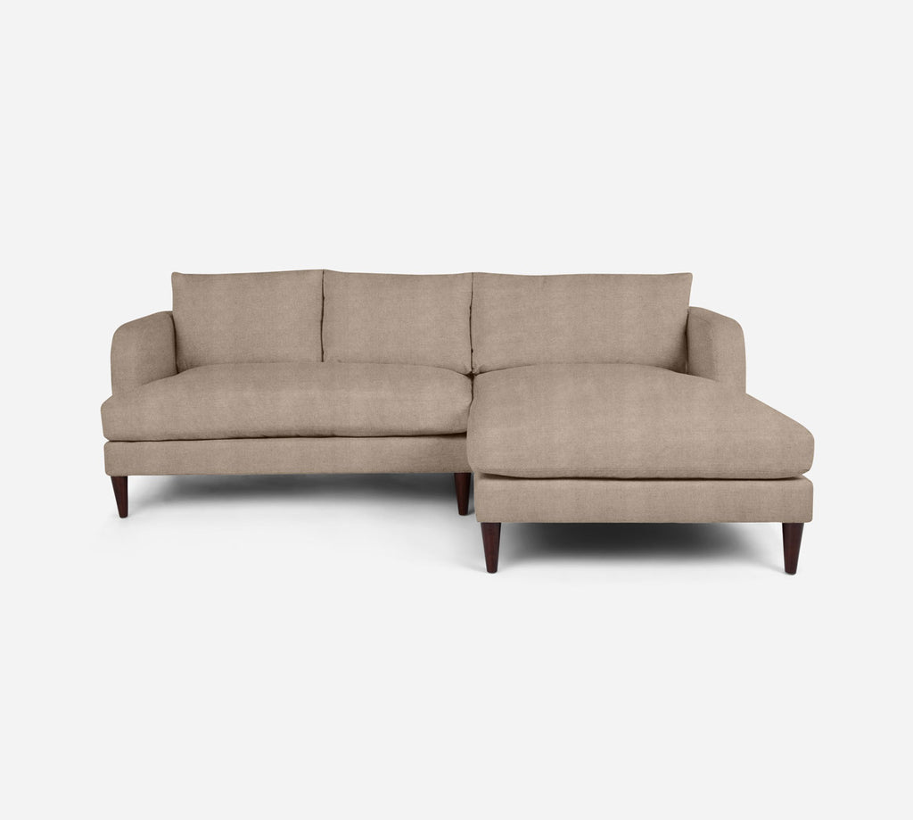 Cybil LAF Sectional Apt Sofa w/ Chaise - Passion Suede - Camel