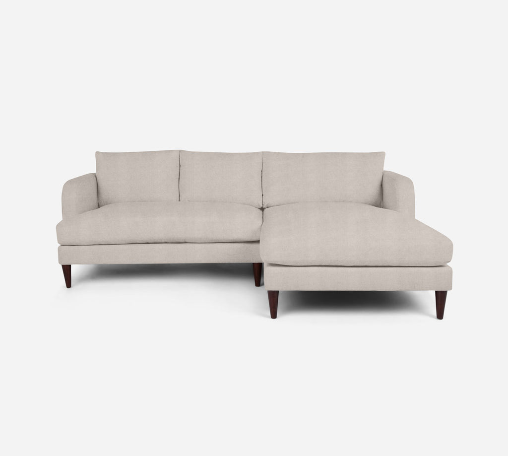 Cybil LAF Sectional Apt Sofa w/ Chaise - Passion Suede - Oyster