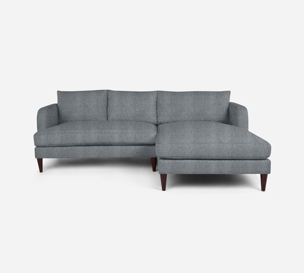 Cybil LAF Sectional Apt Sofa w/ Chaise - Theron - Haze