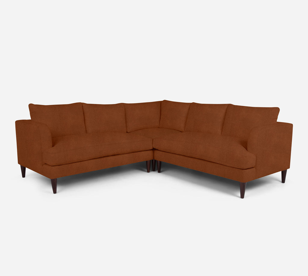 Cybil Corner Sectional - Passion Suede - Rust