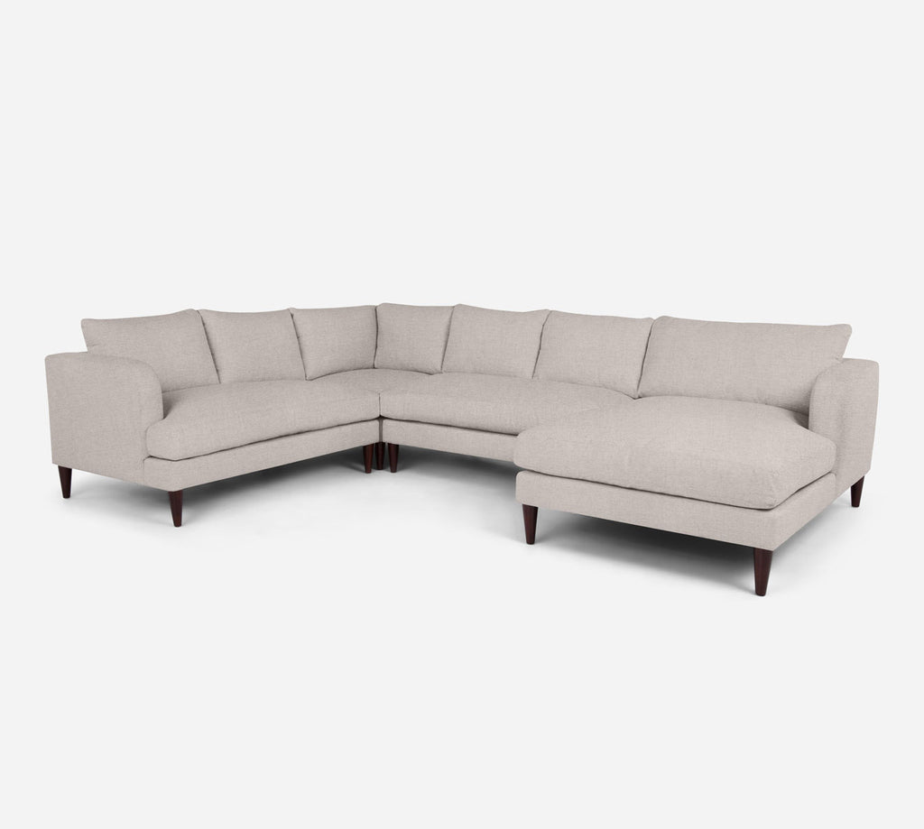 Cybil RAF Chaise Corner Sectional - Coastal - Sand