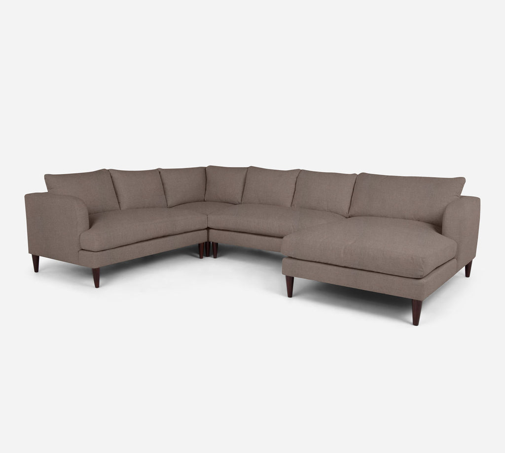 Cybil RAF Chaise Corner Sectional - Heritage - Pebble
