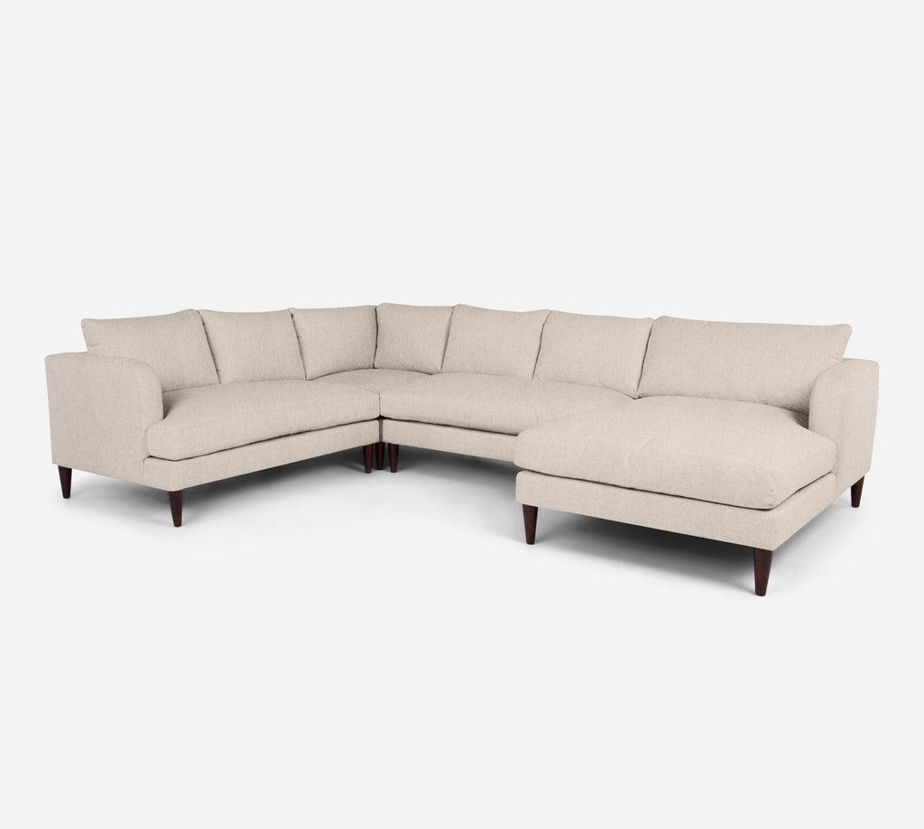 Cybil RAF Chaise Corner Sectional - Kenley - Canvas