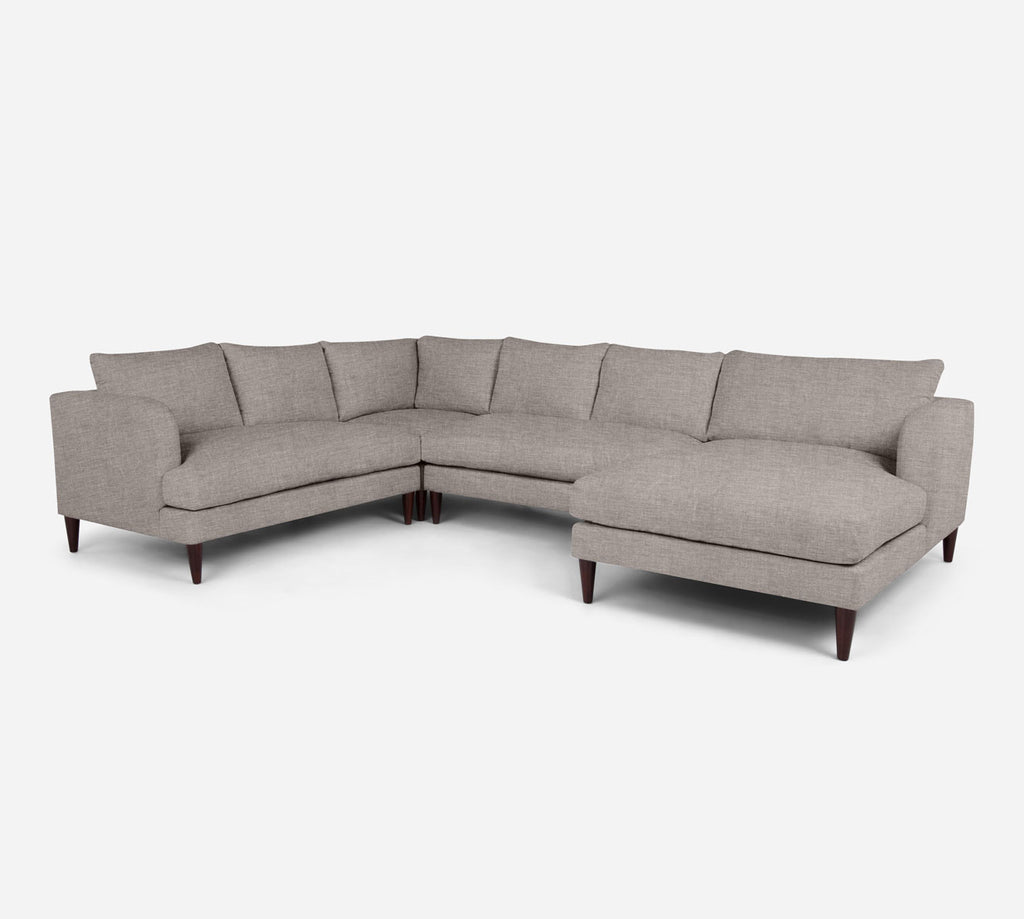 Cybil RAF Chaise Corner Sectional - Key Largo - Almond