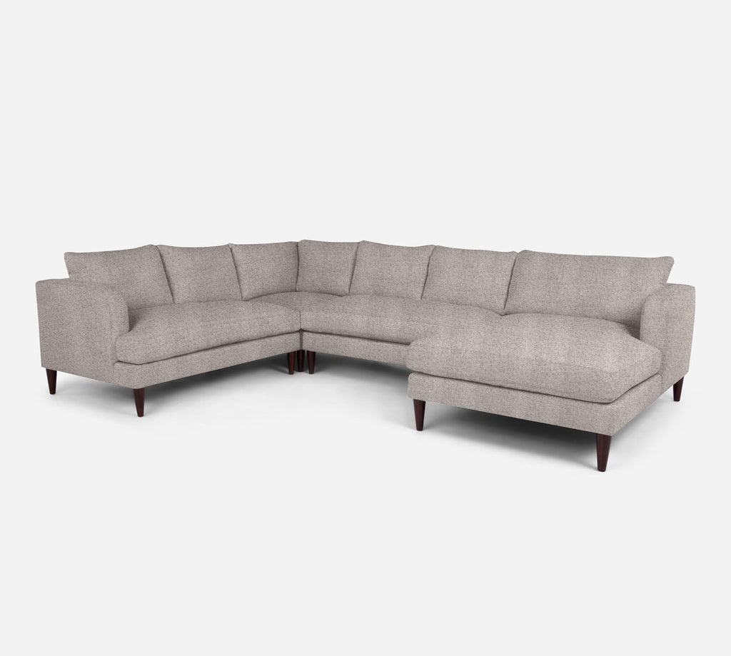 Cybil RAF Chaise Corner Sectional - Theron - Oyster