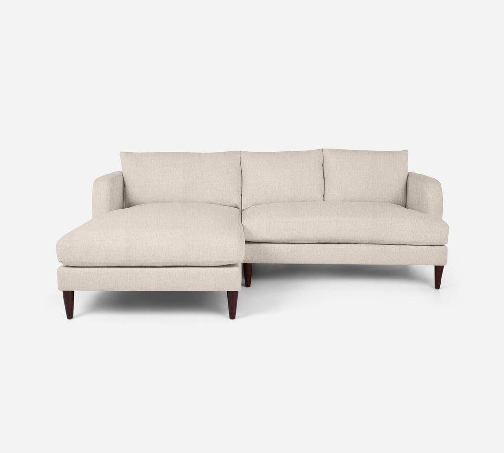 Cybil RAF Sectional Apt Sofa w/ Chaise - Kenley - Canvas