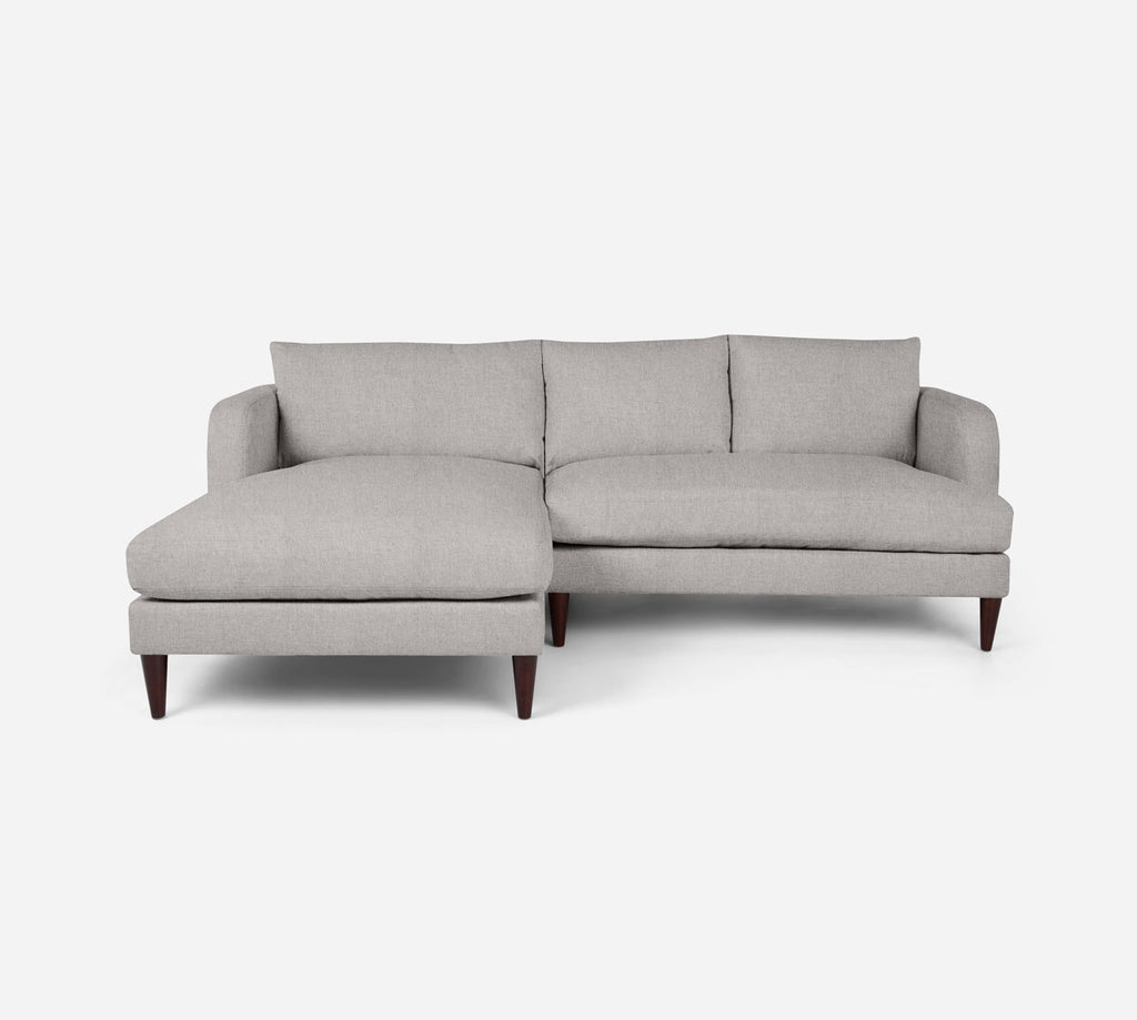 Cybil RAF Sectional Apt Sofa w/ Chaise - Kenley - Moondust
