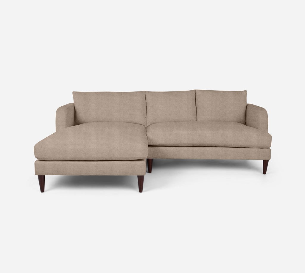 Cybil RAF Sectional Apt Sofa w/ Chaise - Passion Suede - Camel