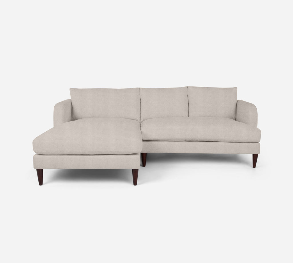 Cybil RAF Sectional Apt Sofa w/ Chaise - Passion Suede - Oyster