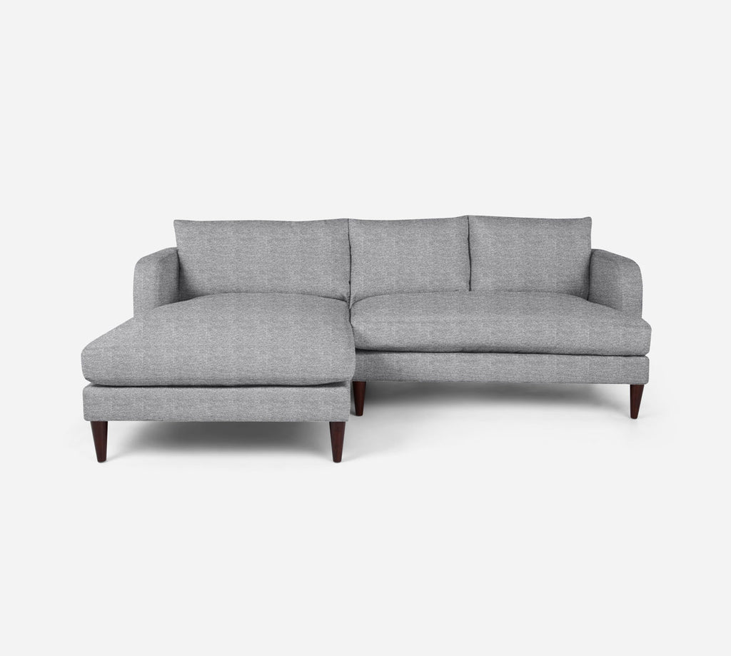 Cybil RAF Sectional Apt Sofa w/ Chaise - Stardust - Domino