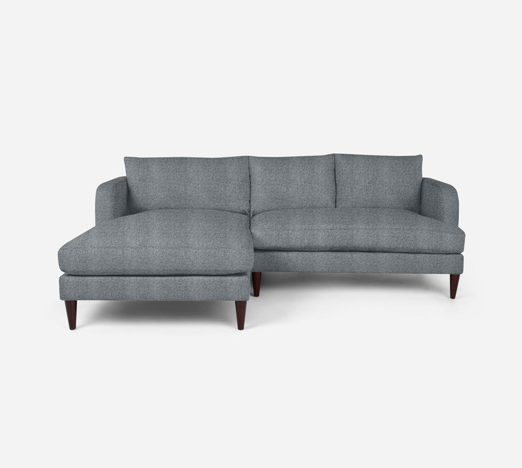 Cybil RAF Sectional Apt Sofa w/ Chaise - Theron - Haze