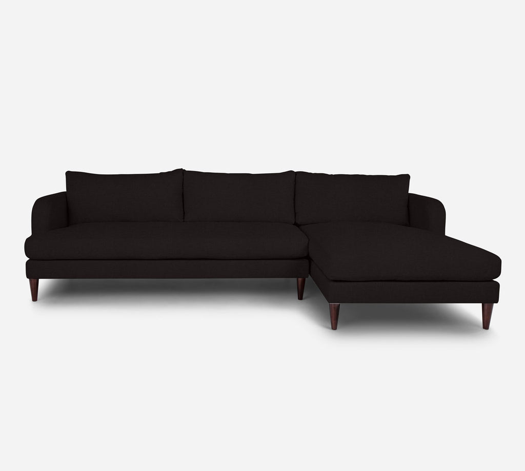 Cybil LAF Sectional Sofa w/ Chaise - Coastal - Espresso