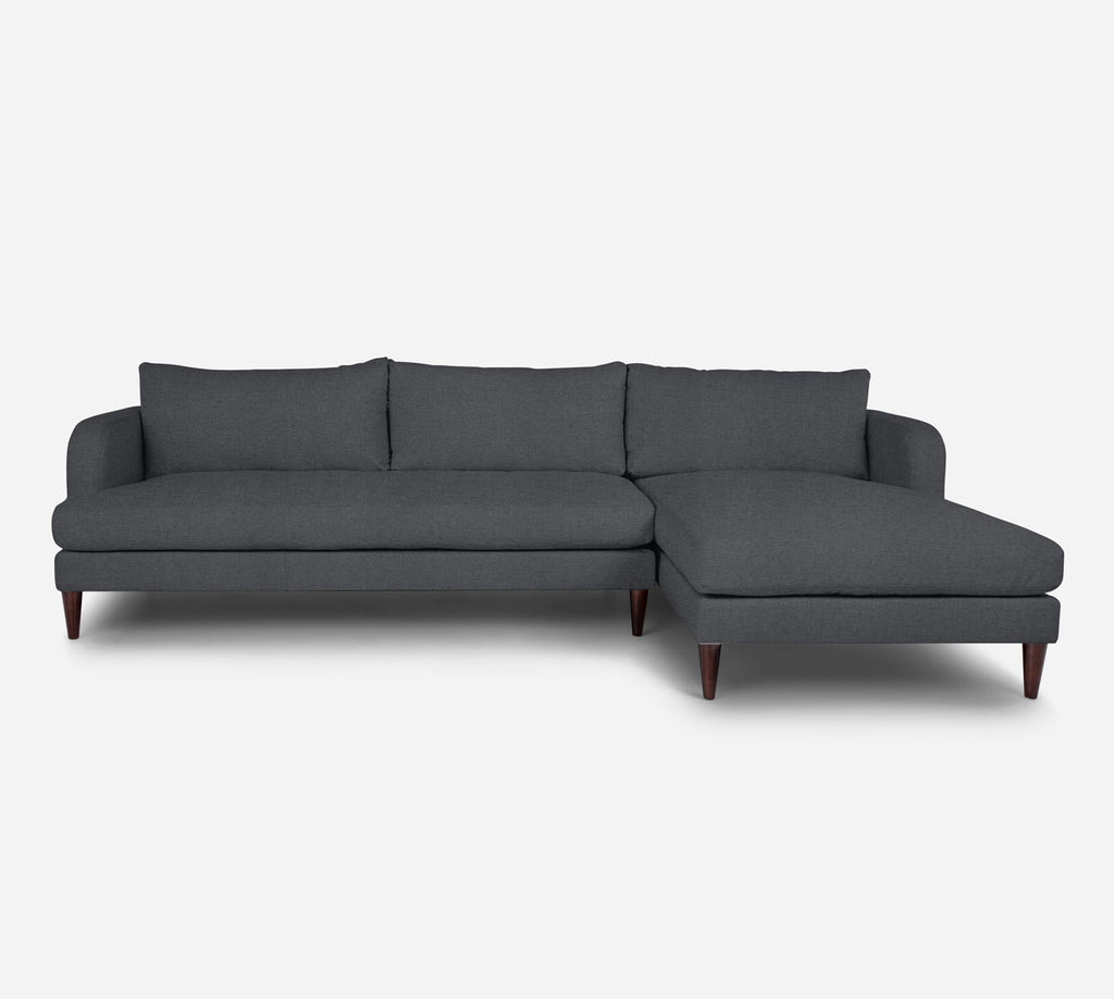 Cybil LAF Sectional Sofa w/ Chaise - Coastal - Steel