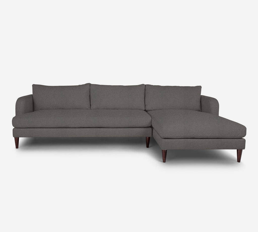 Cybil LAF Sectional Sofa w/ Chaise - Dawson - Platinum