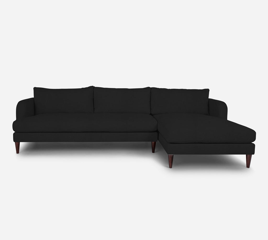 Cybil LAF Sectional Sofa w/ Chaise - Heritage - Charcoal