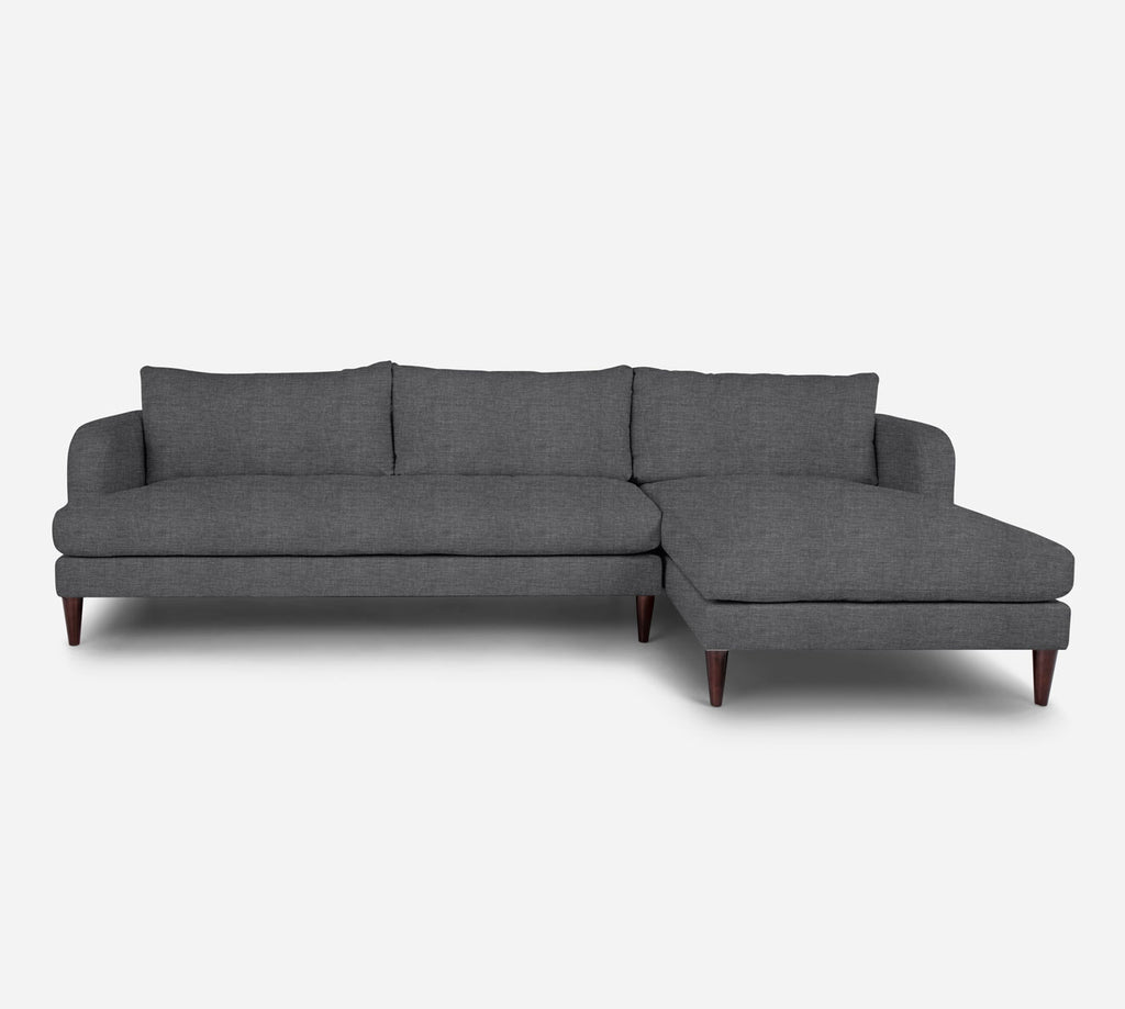 Cybil LAF Sectional Sofa w/ Chaise - Key Largo - Ash