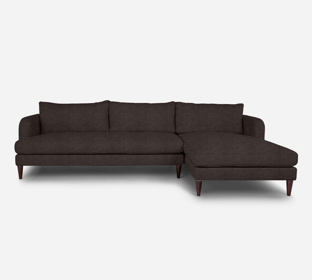 Cybil LAF Sectional Sofa w/ Chaise - Key Largo - Mocha