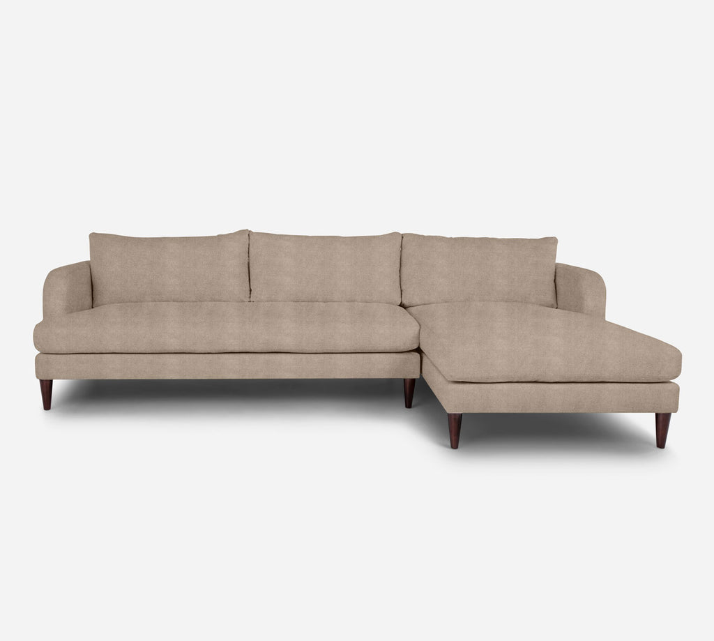Cybil LAF Sectional Sofa w/ Chaise - Passion Suede - Camel