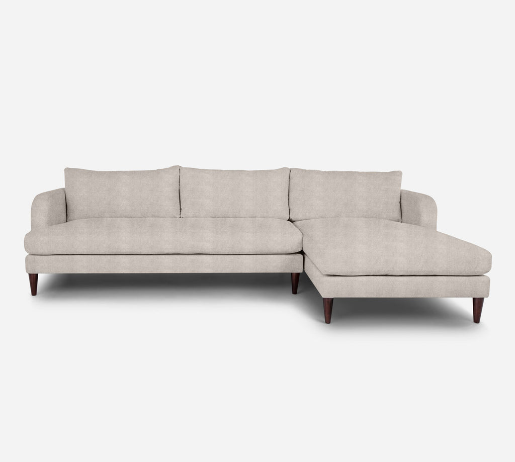 Cybil LAF Sectional Sofa w/ Chaise - Passion Suede - Oyster