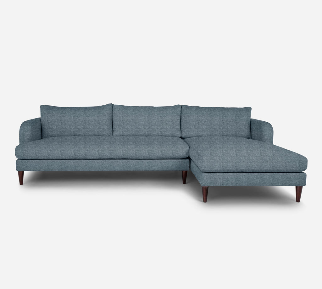 Cybil LAF Sectional Sofa w/ Chaise - Stardust - Lapis