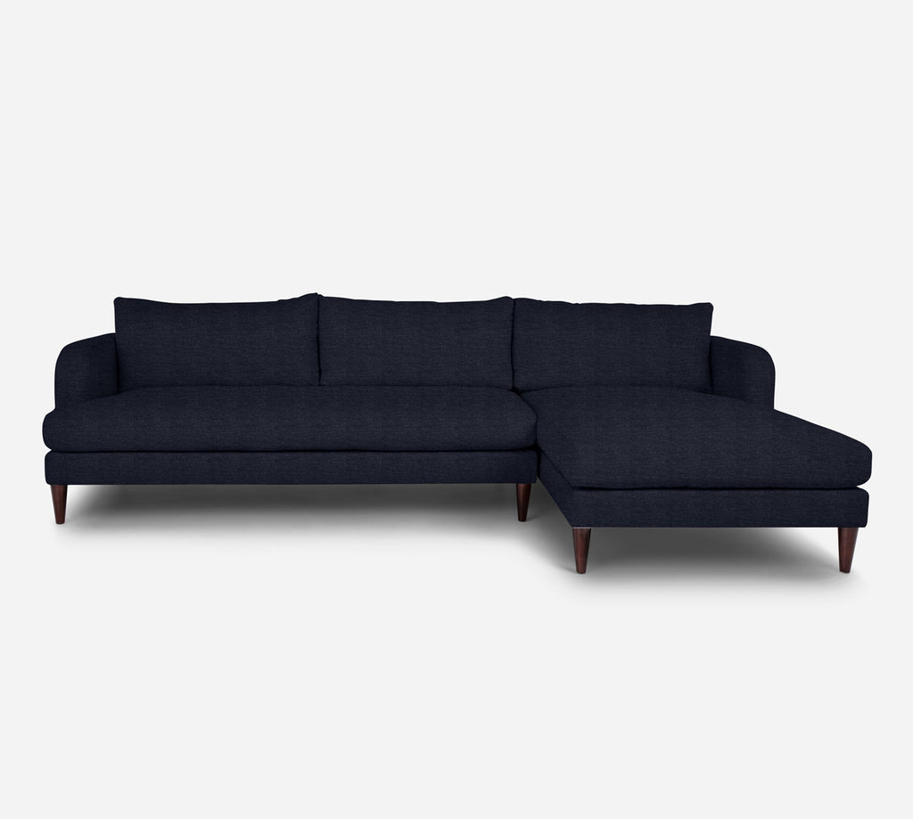 Cybil LAF Sectional Sofa w/ Chaise - Stardust - Midnight