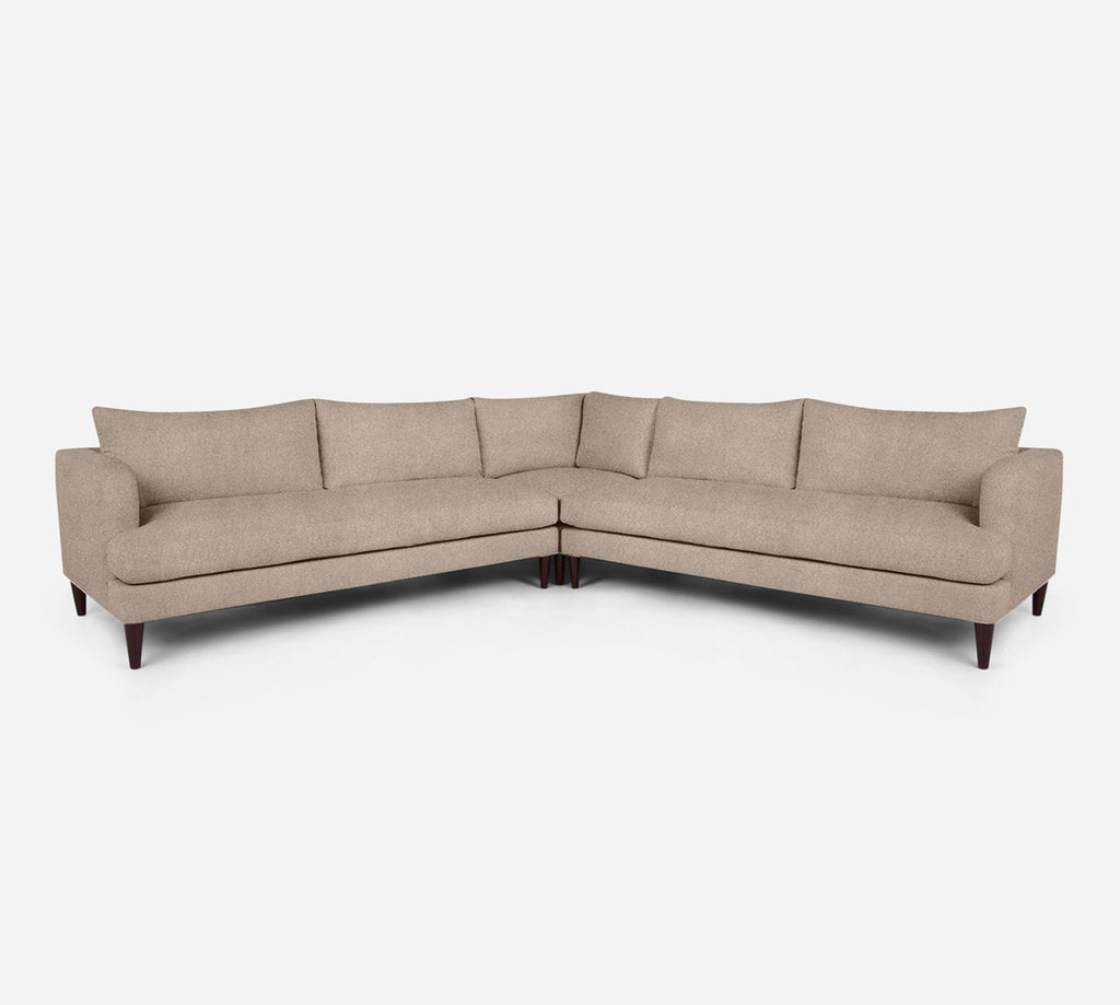 Cybil Large Corner Sectional - Passion Suede - Camel