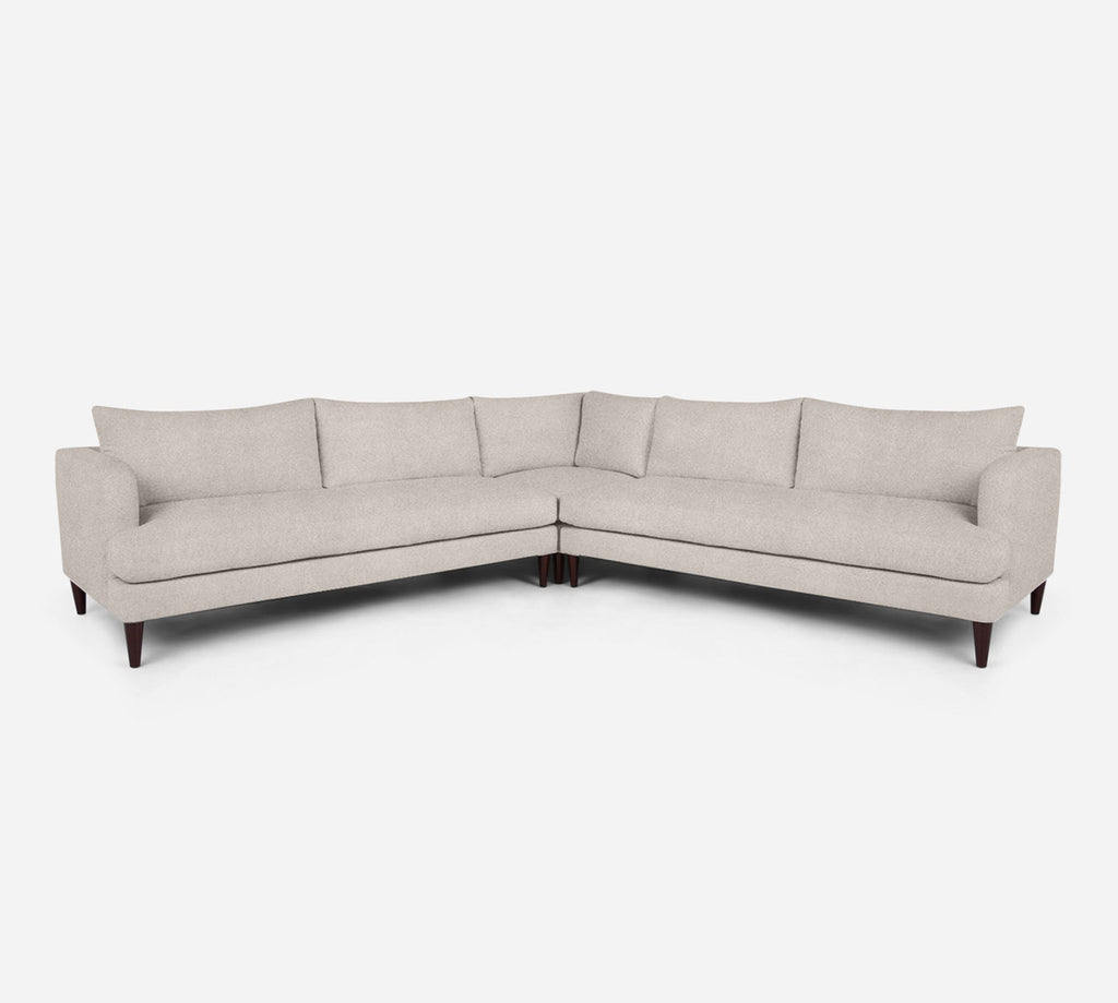 Cybil Large Corner Sectional - Passion Suede - Oyster