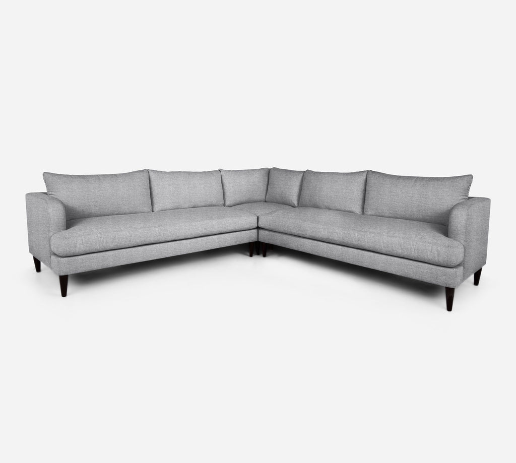 Cybil Large Corner Sectional - Stardust - Domino