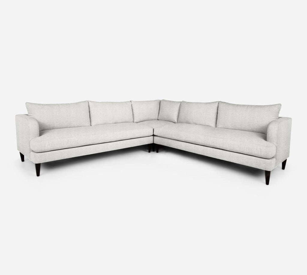 Cybil Large Corner Sectional - Stardust - Ivory