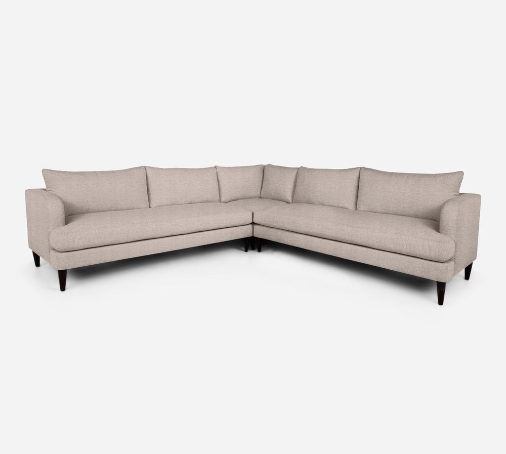 Cybil Large Corner Sectional - Stardust - Oatmeal