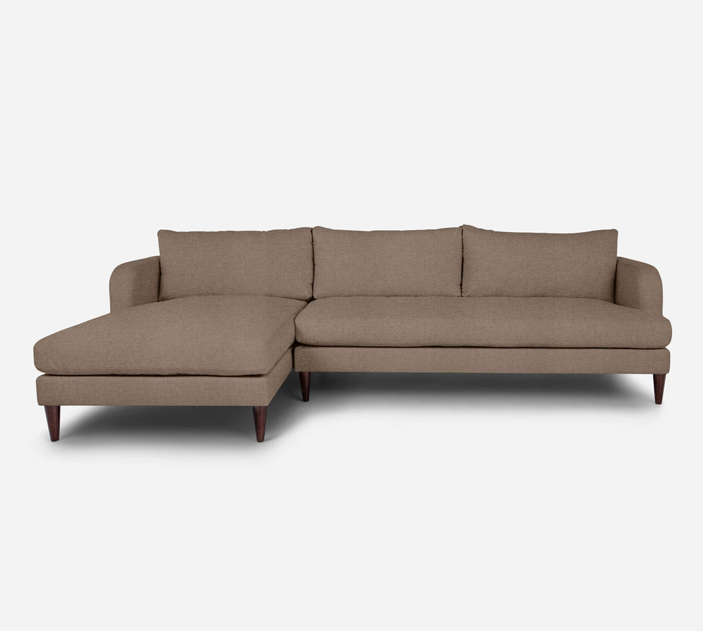 Cybil RAF Sectional Sofa w/ Chaise - Coastal - Cashew
