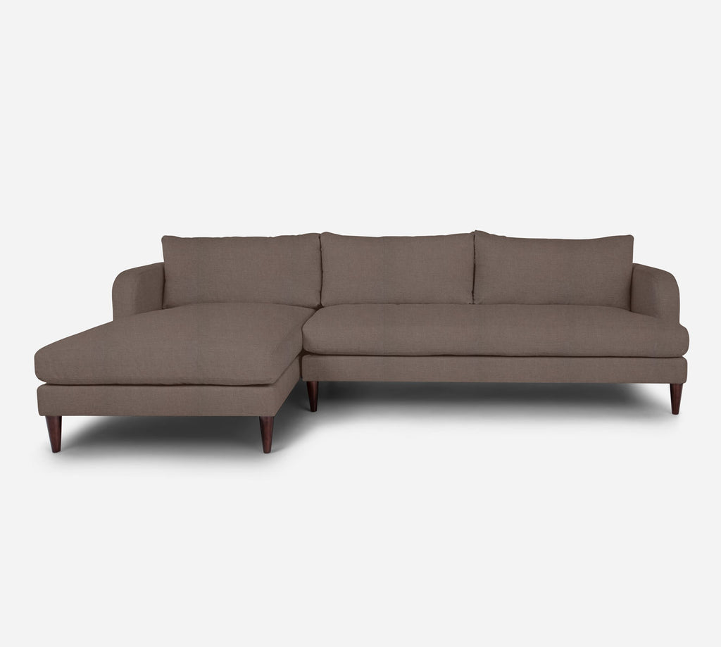 Cybil RAF Sectional Sofa w/ Chaise - Heritage - Pebble