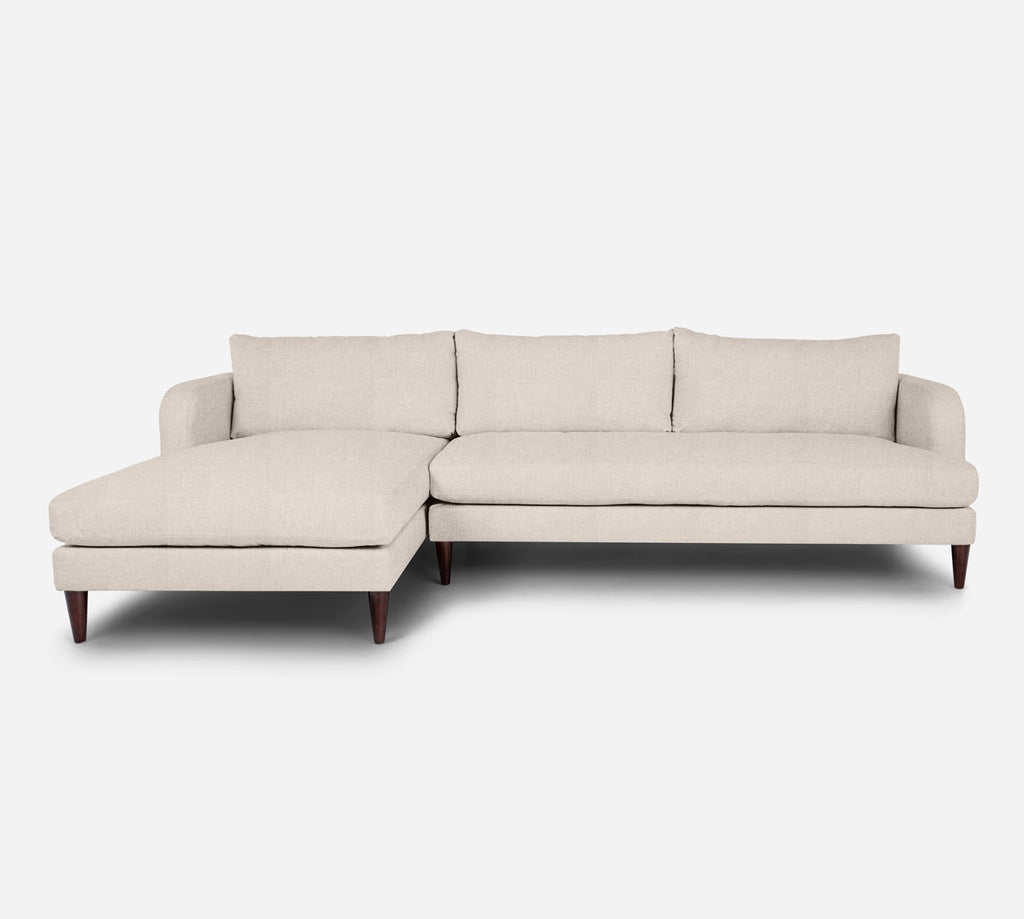 Cybil RAF Sectional Sofa w/ Chaise - Kenley - Canvas
