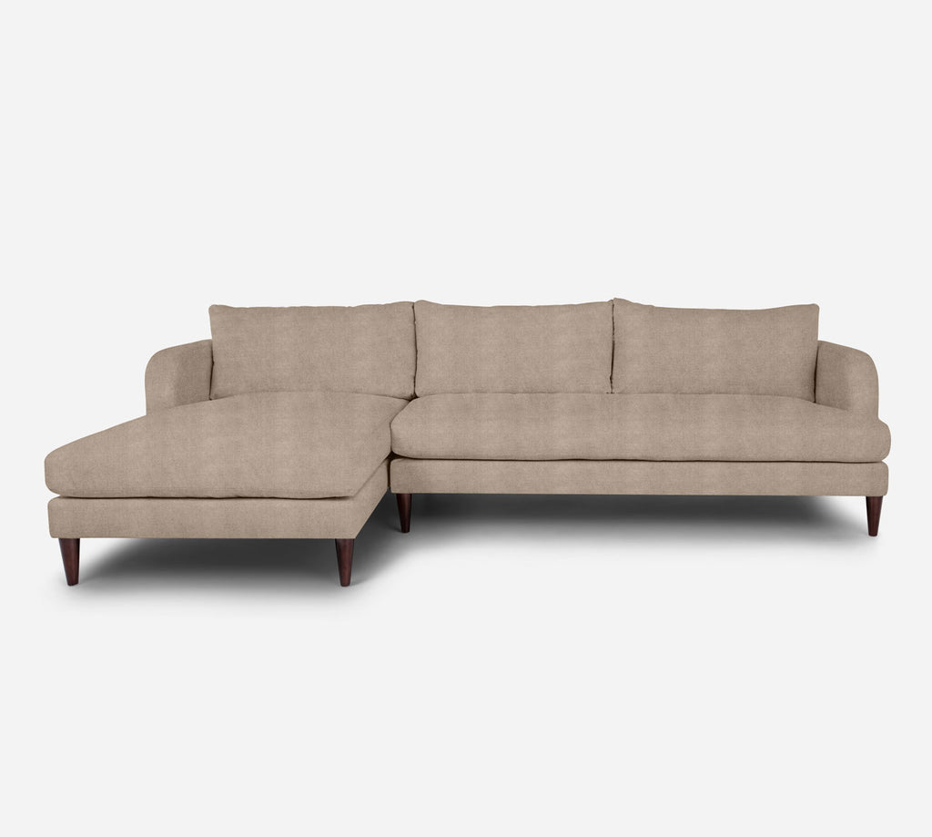 Cybil RAF Sectional Sofa w/ Chaise - Passion Suede - Camel