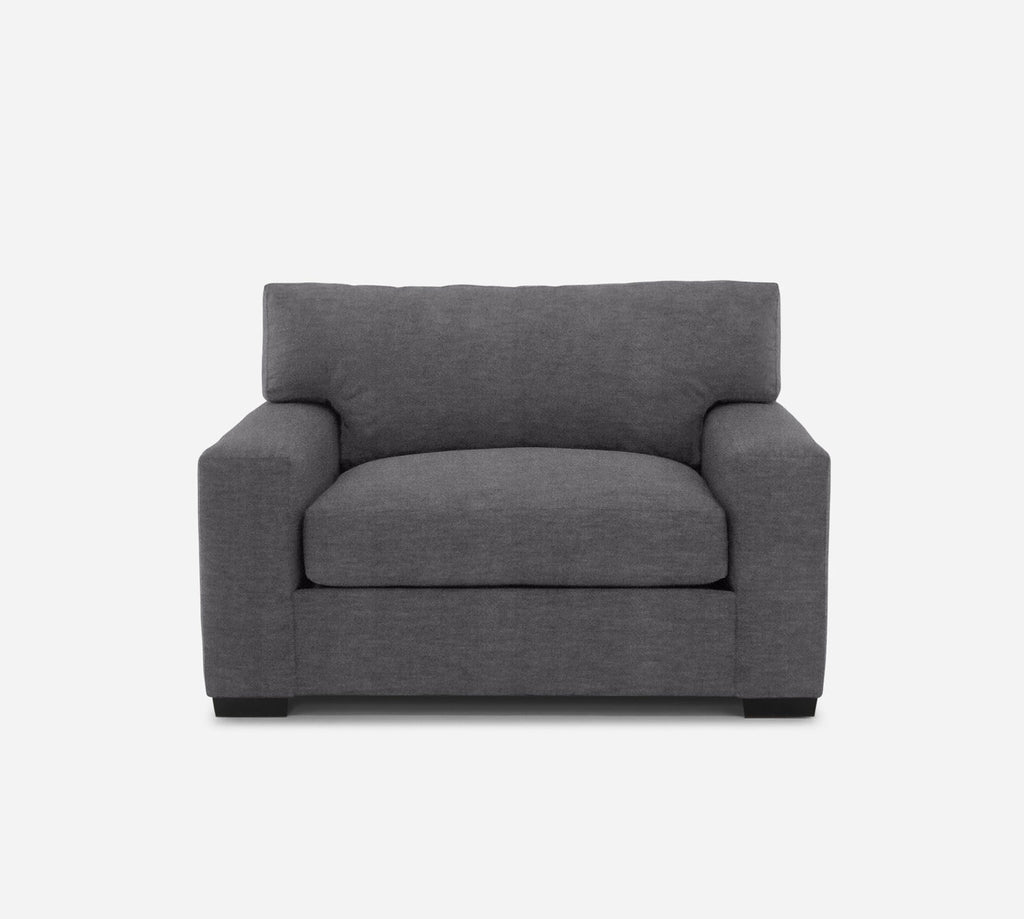 Kyle Chair 1/2 - Passion Suede - Charcoal