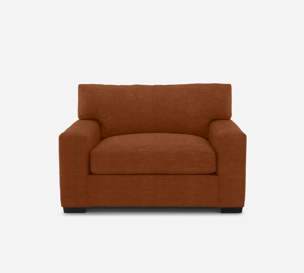Kyle Chair 1/2 - Passion Suede - Rust