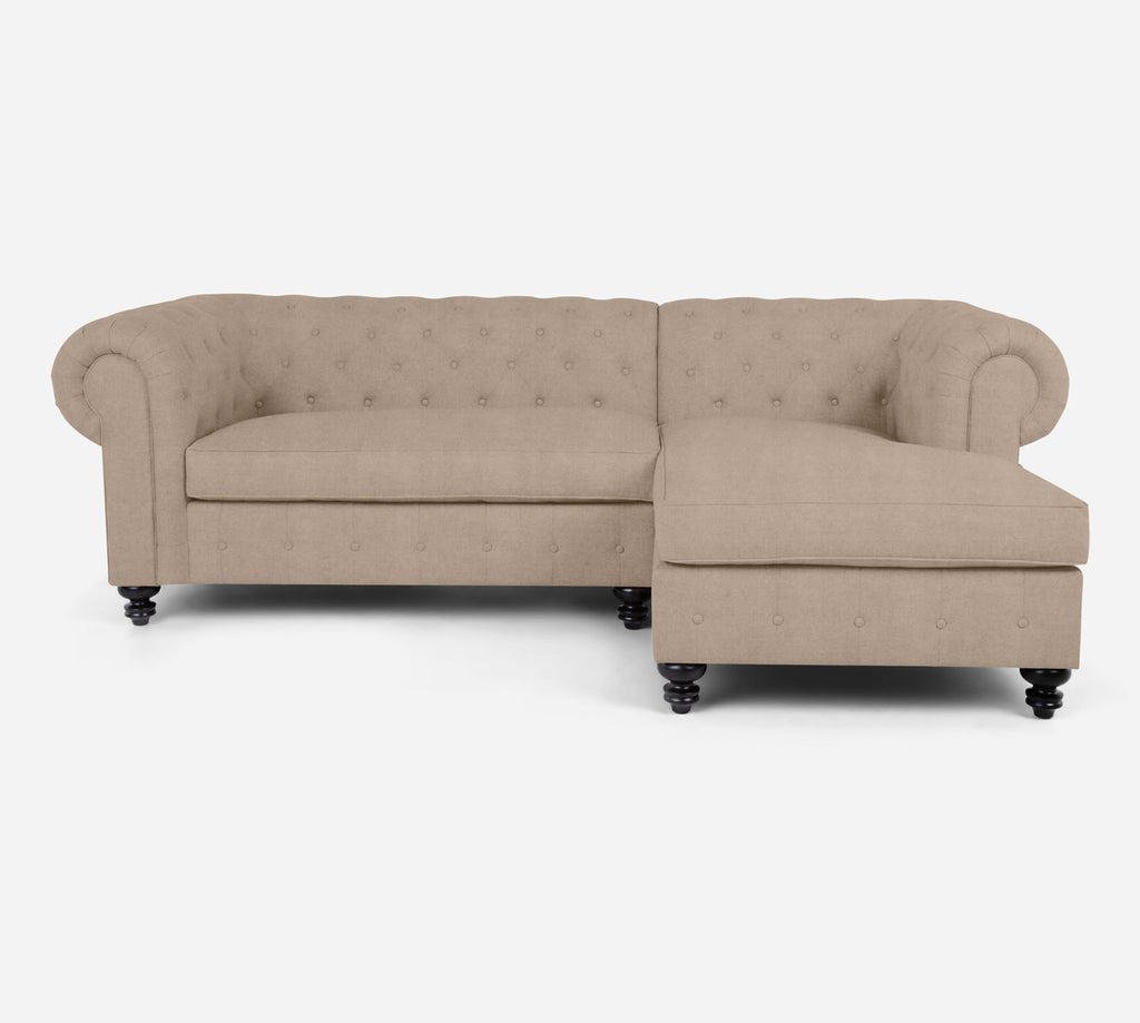 Fairfield LAF Sectional Apt Sofa w/ Chaise - Passion Suede - Camel