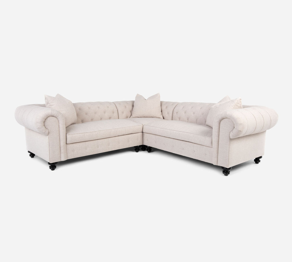Fairfield Corner Sectional - Coastal - Sand