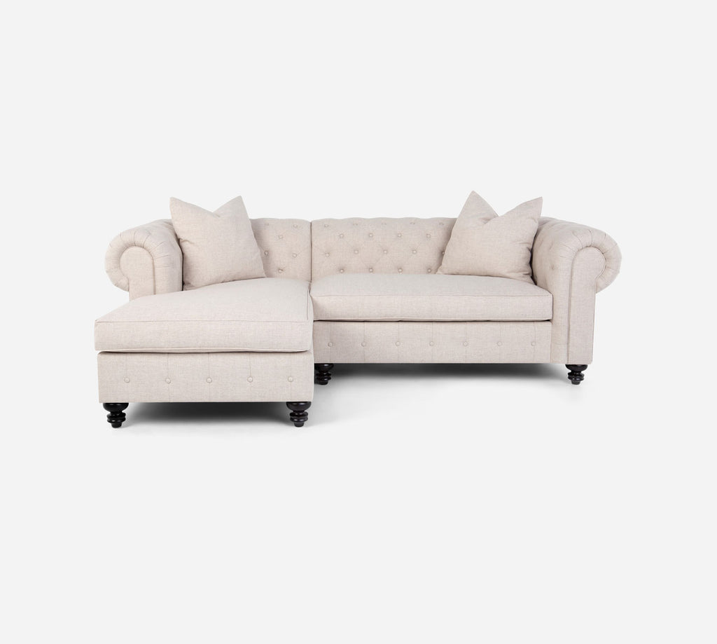 Fairfield RAF Sectional Apt Sofa w/ Chaise - Coastal - Sand
