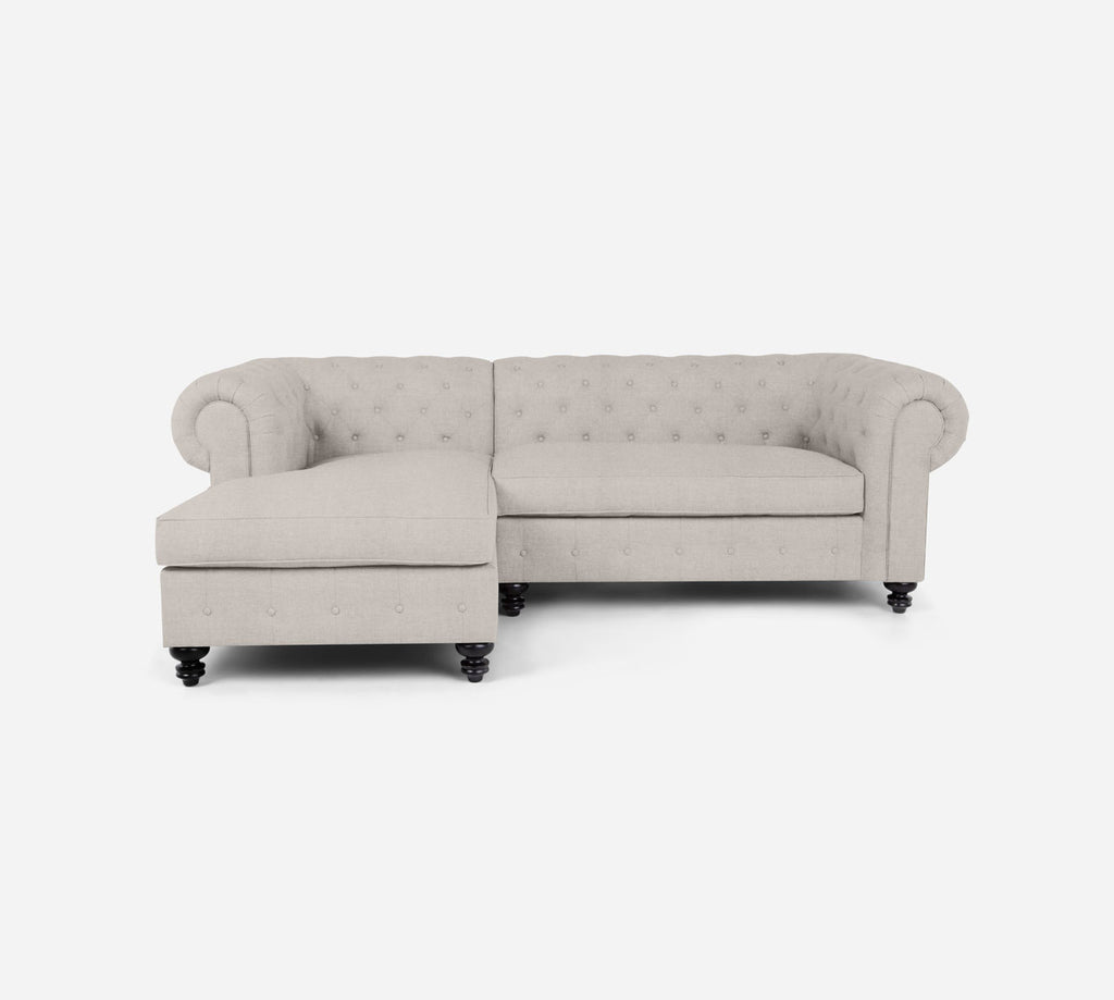 Fairfield RAF Sectional Apt Sofa w/ Chaise - Heritage - Charcoal