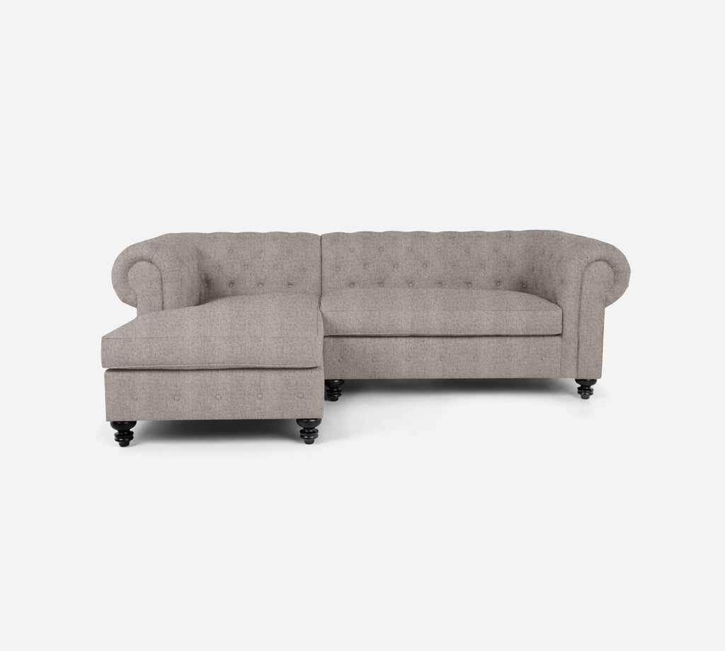 Fairfield RAF Sectional Apt Sofa w/ Chaise - Theron - Oyster