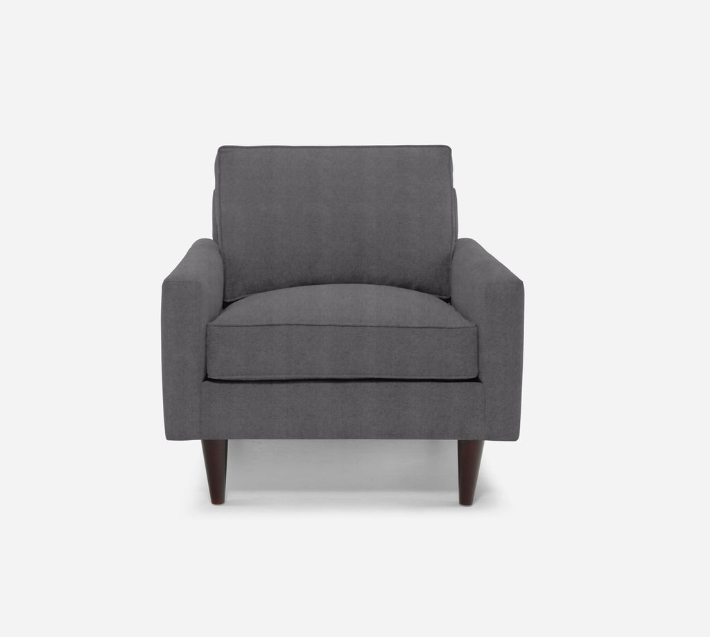 Holland Chair - Passion Suede - Charcoal