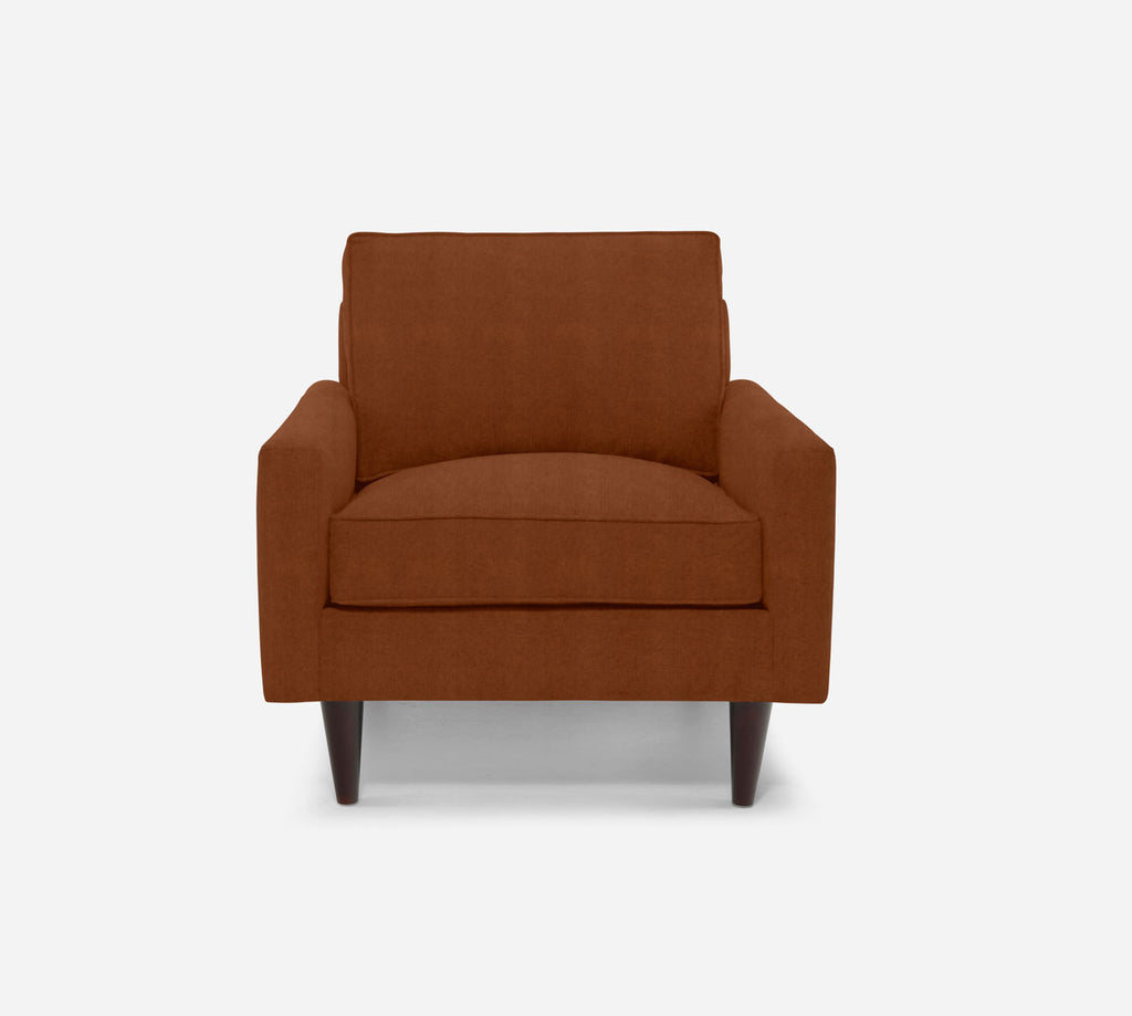 Holland Chair - Passion Suede - Rust