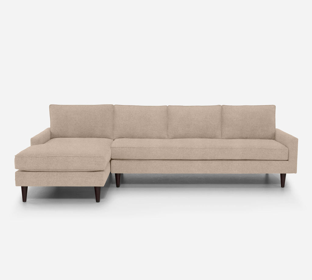 Holland LAF Chaise Sectional - Passion Suede - Camel