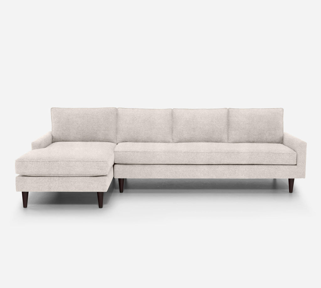 Holland LAF Chaise Sectional - Passion Suede - Oyster
